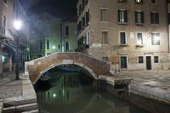 Typowy most w sercu Venice Zdjęcia Stock