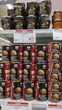 Typowy naczynie niektóre kraje europejscy belgium lub France ślimaczki jeść konserwowali odsłoniętego w sklepie fotografia stock
