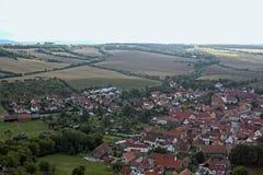 Typowy niemiecki wiejski krajobraz Zdjęcia Royalty Free