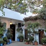 typowy patio--Mijas Fotografia Royalty Free