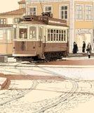 typowy Porto tramwaj Portugal Fotografia Royalty Free