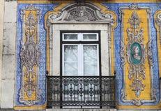 Typowy portuguese okno Zdjęcia Royalty Free