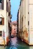 Typowy przesmyk wody kanał w Wenecja Obraz Royalty Free