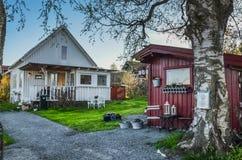 Typowy Skandynawski podwórze fotografia royalty free