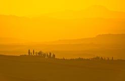 typowy Tuscan krajobrazu Zdjęcia Royalty Free
