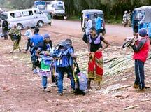 Typowy uliczny rynek w Arusha Obraz Royalty Free