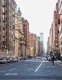 Typowy uliczny widok w Manhattan NOWY JORK usa - 3 Styczeń, 2019 obrazy royalty free