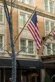Typowy uliczny widok w Manhattan NOWY JORK usa - 3 Styczeń, 2019 zdjęcie stock