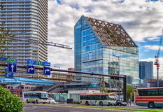 Typowy uliczny widok w Odaiba okręgu Tokio, Japonia Obraz Stock