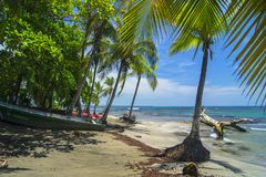 Typowy widok Puerto Viejo de Talamanca, Costa Rica obrazy stock