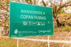 Typowy widok w Copan ruinach w Honduras zdjęcie stock