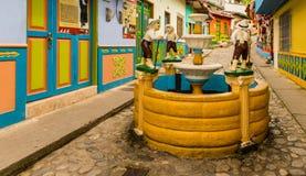 Typowy widok w Guatape w Kolumbia obrazy royalty free