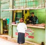 Typowy widok w Hawańskim w Kuba fotografia royalty free