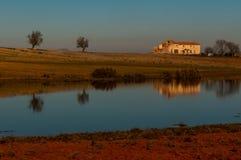 Typowy wiejski krajobraz w Murcia Zdjęcie Stock