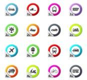 Typse of transport icons set Royalty Free Stock Photos