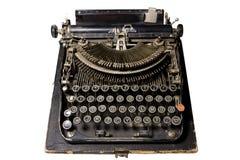 Typwriter velho no branco Fotografia de Stock
