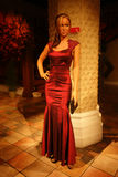 Tyra Banks Wax Figure Royaltyfria Bilder