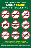 Tyrannisierendes Antiplakat Stockfoto
