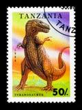 Tyrannosarie Rex, förhistorisk djurserie, circa 1994 Royaltyfri Bild