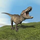 Tyrannosariedinosaurie - 3D framför Royaltyfri Fotografi