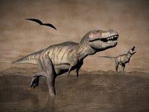 Tyrannosariedinosaurier - 3D framför Royaltyfri Fotografi