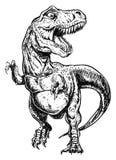 Tyrannosariedinosaurievektor Fotografering för Bildbyråer
