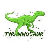Tyrannosaur. Big green dinosaur. Royalty Free Stock Photo