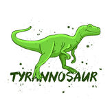 tyrannosaur Grand dinosaur vert Photo libre de droits