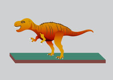 Tyrannosaur - Rex. Big and nice. Prehistorical Jurassic. Dinosaur Vector illustration Royalty Free Stock Photos