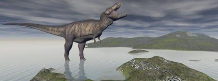 Tyrannosaure dinosaur - 3d render Stock Photography