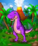 Tyrannosaure mignon de bande dessinée Illustration de vecteur d'une bande dessinée illustration libre de droits