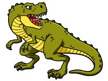 Tyrannosaure Rex d'hurlement de bande dessinée de vecteur illustration stock