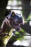 A tyrannosaurus rex. Tyrannosaurs as adults reached 6.5 meters in height and were up to 15 meters in length from the skull to the tail end, weighing more than 10 Royalty Free Stock Image