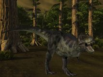 tyrannosaurus динозавра 3d Стоковое Изображение