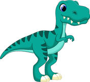 Tyrannosaurus cartoon. With white background Royalty Free Stock Photos
