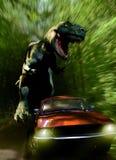 Tyrannosaurus chase Stock Photos