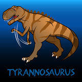 Tyrannosaurus cute character dinosaurs Royalty Free Stock Photography