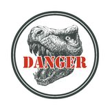 Tyrannosaurus Dinosaur . Hand drawn. Vector eps8 Stock Photo