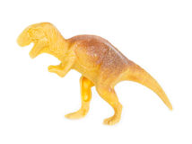 Tyrannosaurus dinosaur plastic figure toy model. Stock Photos