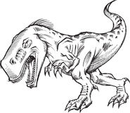 Tyrannosaurus Dinosaur Sketch Doodle Royalty Free Stock Images