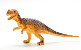 Tyrannosaurus dinosaur toy model. On white background Royalty Free Stock Photos