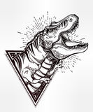 Tyrannosaurus Dinosaur Vector Illustration. Royalty Free Stock Photography