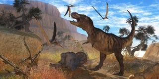 Tyrannosaurus Meeting Royalty Free Stock Images
