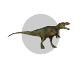 Tyrannosaurus. Polygonal tyrannosaurus on a white background. Vector illustration Royalty Free Stock Images