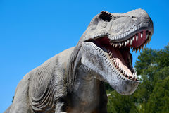 Tyrannosaurus. Realistic model of a Tyrannosaurus Rex in the Dino Park Algar. It is a unique entertainment and educational park. Spain Royalty Free Stock Photos