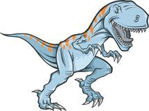 Tyrannosaurus Rex. Vector Illustration on white background Royalty Free Stock Photos