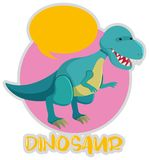 Tyrannosaurus Rex in blue color. Illustration Royalty Free Stock Photography