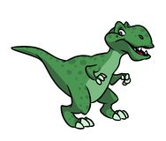 Tyrannosaurus rex cartoon illustration Stock Photo