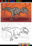 Tyrannosaurus rex dinosaur for coloring. Cartoon Illustration of Tyrannosaurus Rex Dinosaur Reptile Species in Prehistoric World for Coloring Book and Education Royalty Free Stock Photos