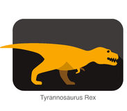 Tyrannosaurus Rex dinosaur open its mouth, roaring Royalty Free Stock Image